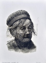 "— ""Portrait of an old woman"", 2013"