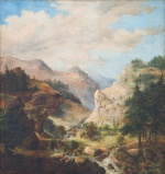 "— ""Mountain Alpine landscape"", 1862"
