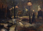 — «Night in the park», 1910s