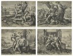 "— Suite of Four Engravings ""Four Temperaments"", 1583"