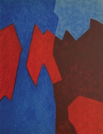 "— ""Composition: red and blue"", 1968"