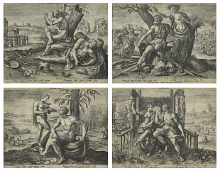 "Suite of Four Engravings ""Four Temperaments"", 1583"
