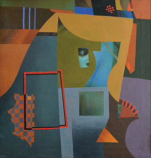 """Composition with geometric figures"", 1989"