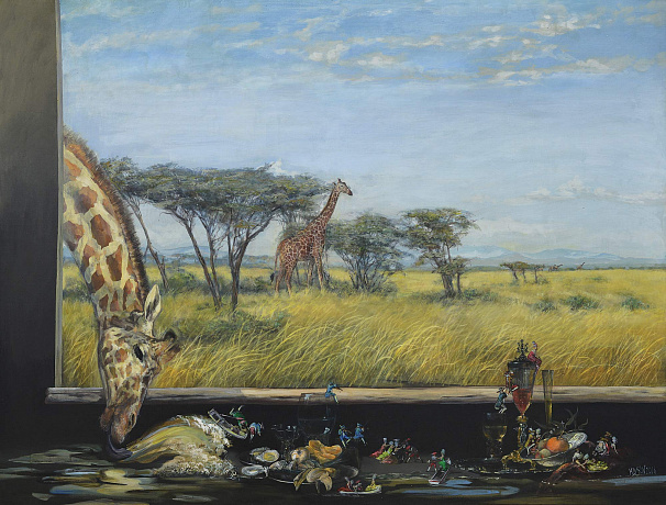 """Breakfast with the giraffes"", 2016"