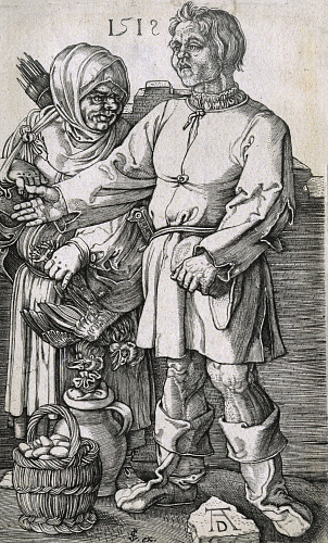 """Peasant couple at the market"", 1512"