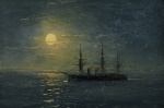 "— ""Steam frigate on a moonlit night"", the last quarter of the XIX c."