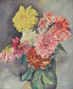 "— ""Still Life with Dahlias"", 1940s"