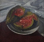 "— ""Still life with a watermelon"", 1984"